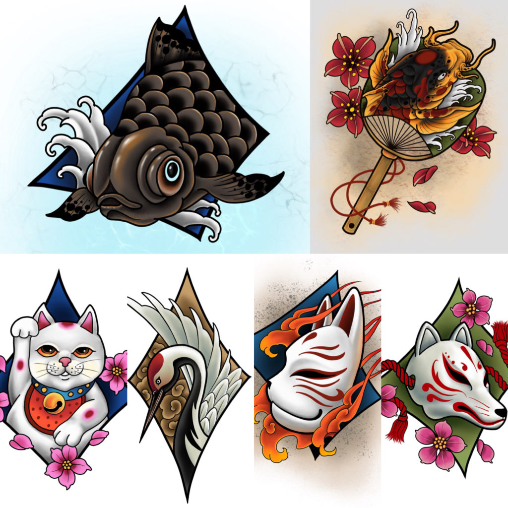 Happy New…flash designs at Japan Tattoo!